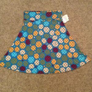 LULAROE knee-length A-line Azure Skirt Size 2XL